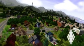 Picture of a picturesque Sim town.